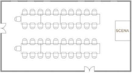 Układ restauracyjny - 100 osób