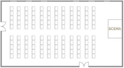 Układ teatralny - 100 osób