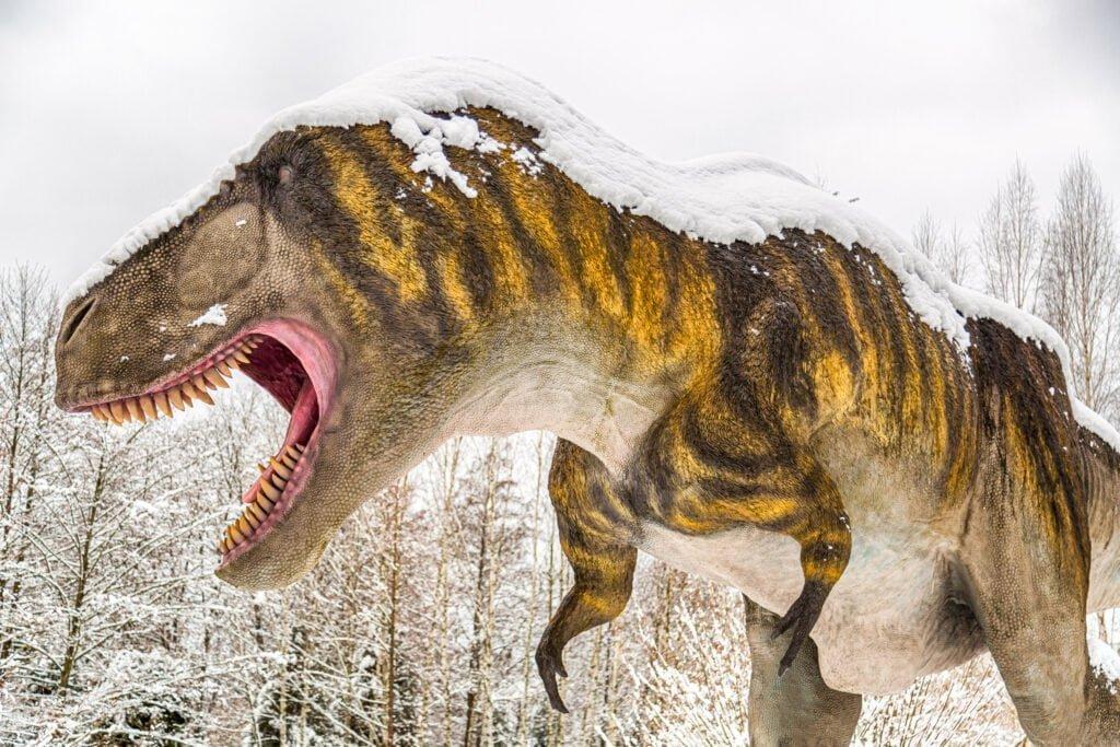 dinozaury zimą
