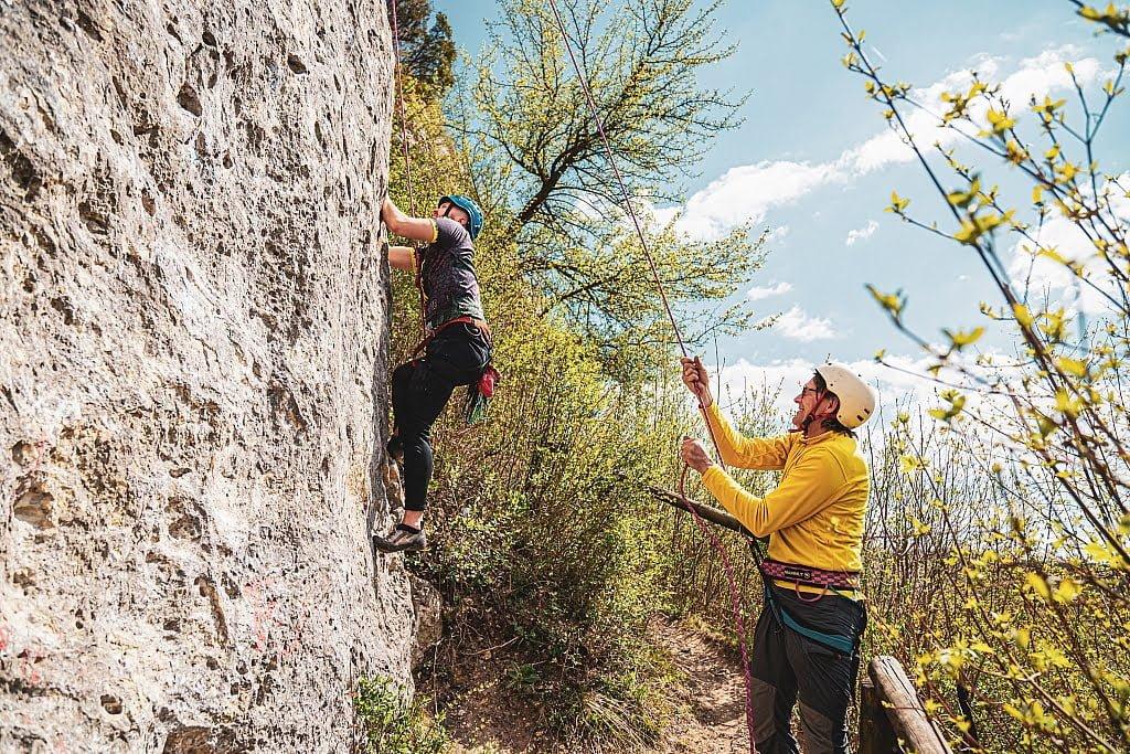 Wspinaczka skałkowa w Bałtowie